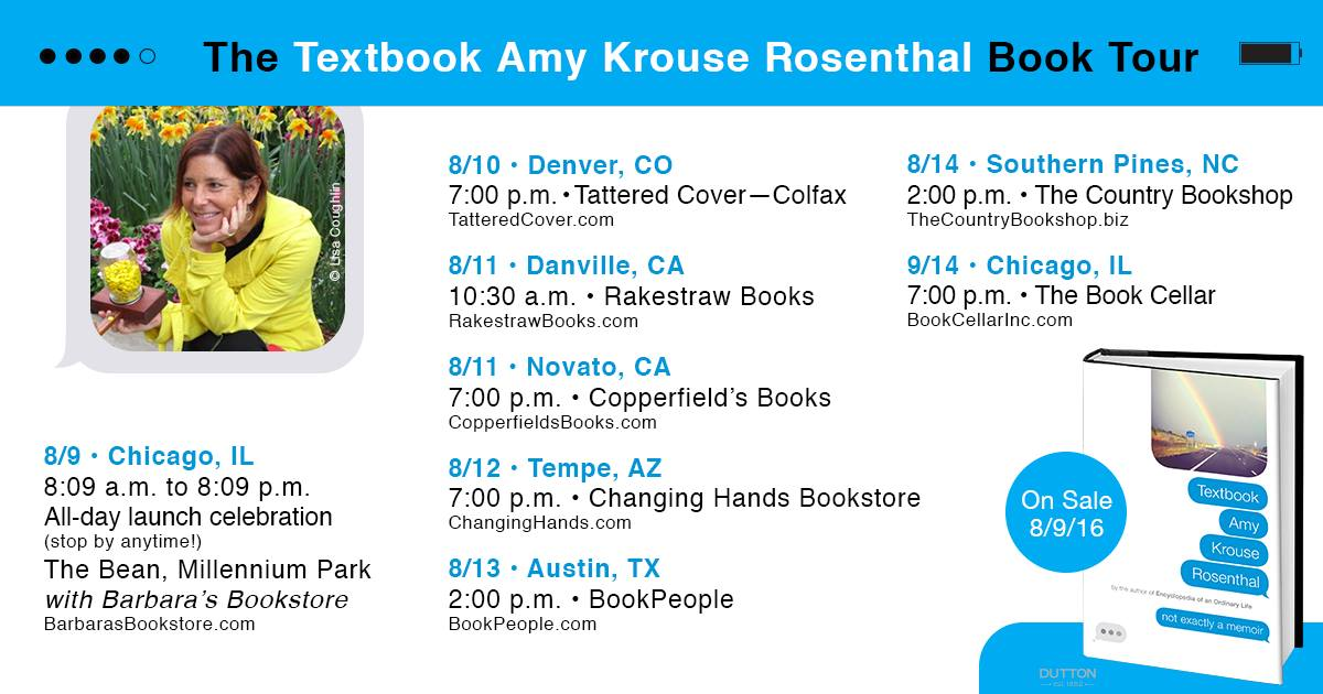 textbook amy krouse rosenthal book review library goddess